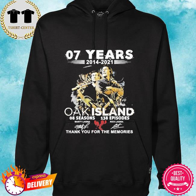 07 years 2014 2021 The Curse Of Oakland thank you for the memories signatures s hoodie