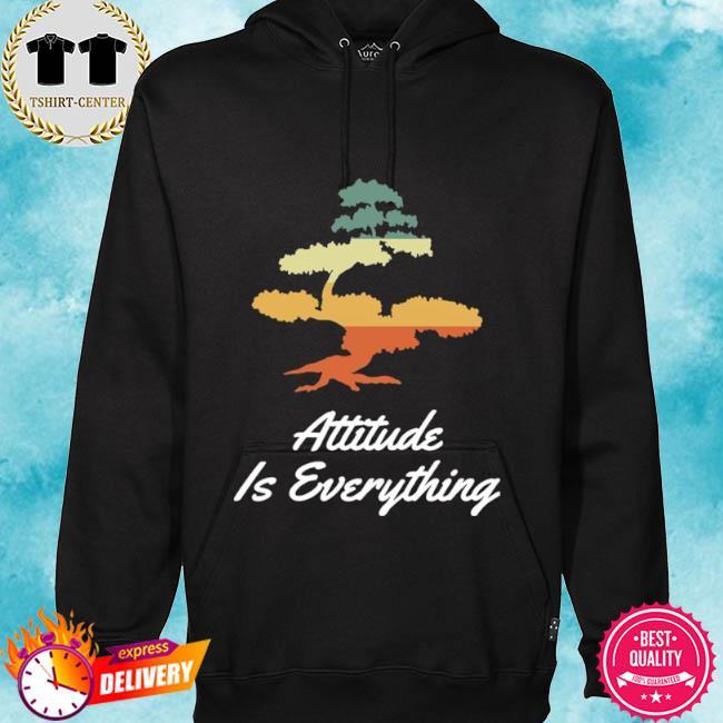 Attitude is everything bonsai tree japanese plant vintage s hoodie
