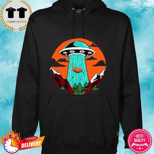 Cat alien abduction gift cat lovers ufo alien s hoodie