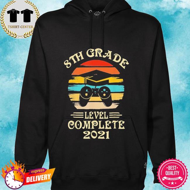 Gamer 8th grade graduation for girls boys 2021 vintage s hoodie