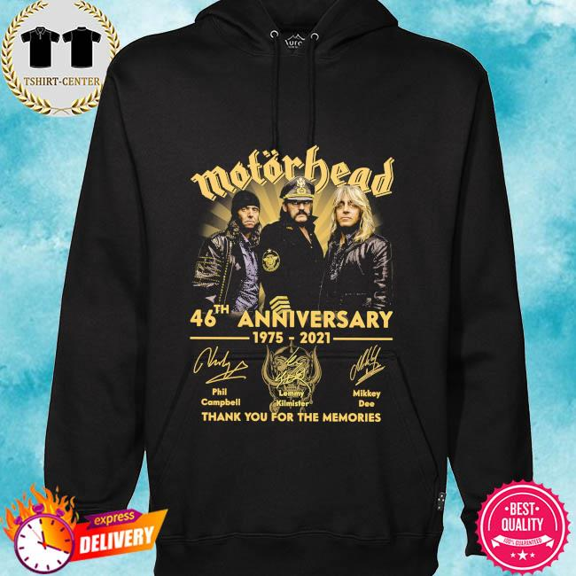 Motor Bead 46th anniversary 1975 2021 thank you for the memories signatures s hoodie