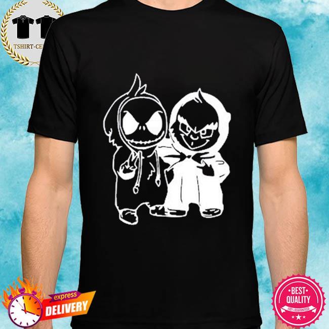 Jack Skellington And Grinch Halloween T-Shirt Masswerks Store